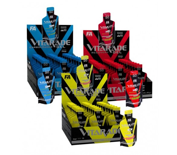 Gel Vitarade Energy / Carboloader / Recovery 1 und. y 24 unds.